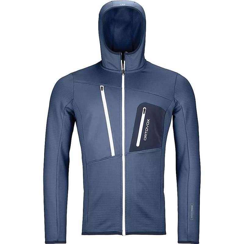 オルトボックス メンズ パーカー・スウェット アウター Ortovox Men's Fleece Grid Hoody Night Blue