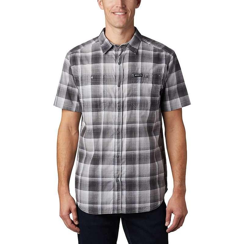 コロンビア メンズ シャツ トップス Columbia Men's Leadville Ridge II SS Shirt Columbia Grey Ombre Plaid