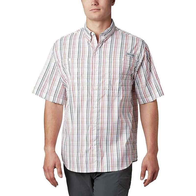 コロンビア メンズ シャツ トップス Columbia Men's Super Tamiami SS Shirt Red Spark Small Check