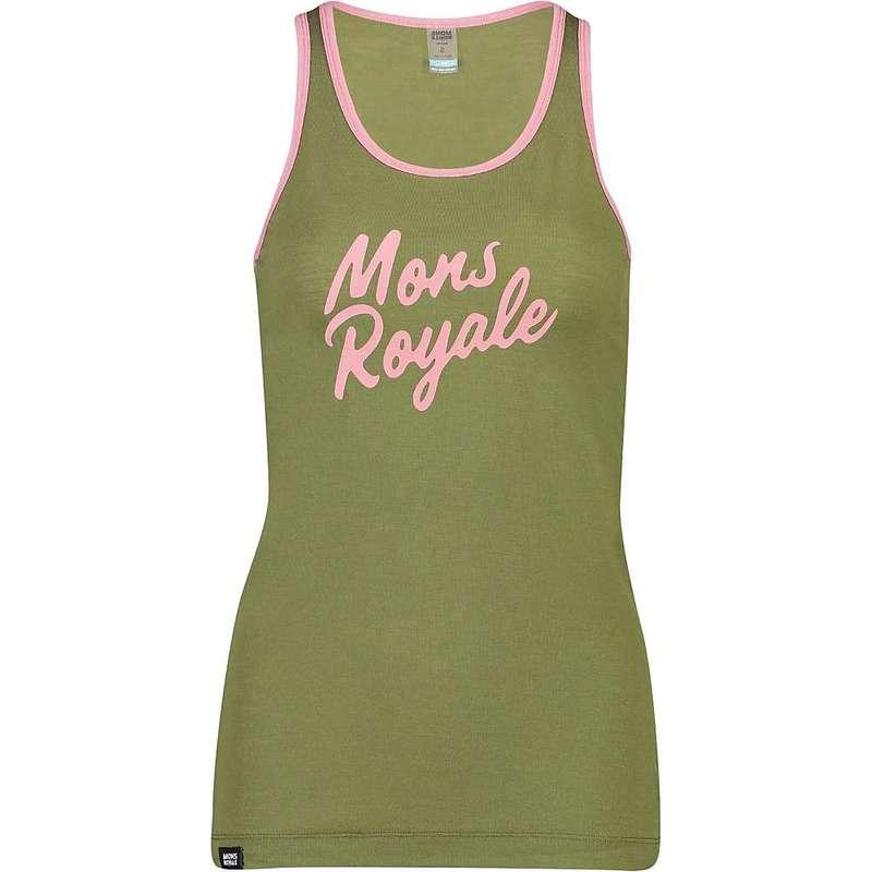 モンスロイヤル レディース Tシャツ トップス Mons Royale Women's Icon Tank Khaki Rose
