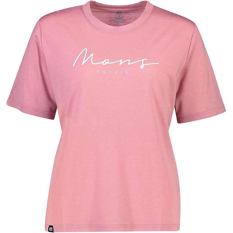 モンスロイヤル レディース Tシャツ トップス Mons Royale Women's Suki BF Tee Dusty Pink
