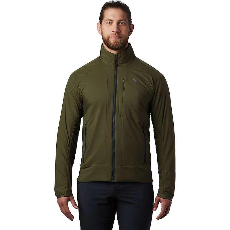 マウンテンハードウェア メンズ ジャケット・ブルゾン アウター Mountain Hardwear Men's Kor Cirrus Hybrid Jacket Dark Army