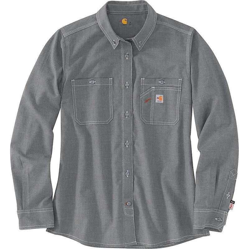 カーハート メンズ シャツ トップス Carhartt Men's Flame-Resistant Force Relaxed Fit Lightweight LS Button-Front Shirt Grey