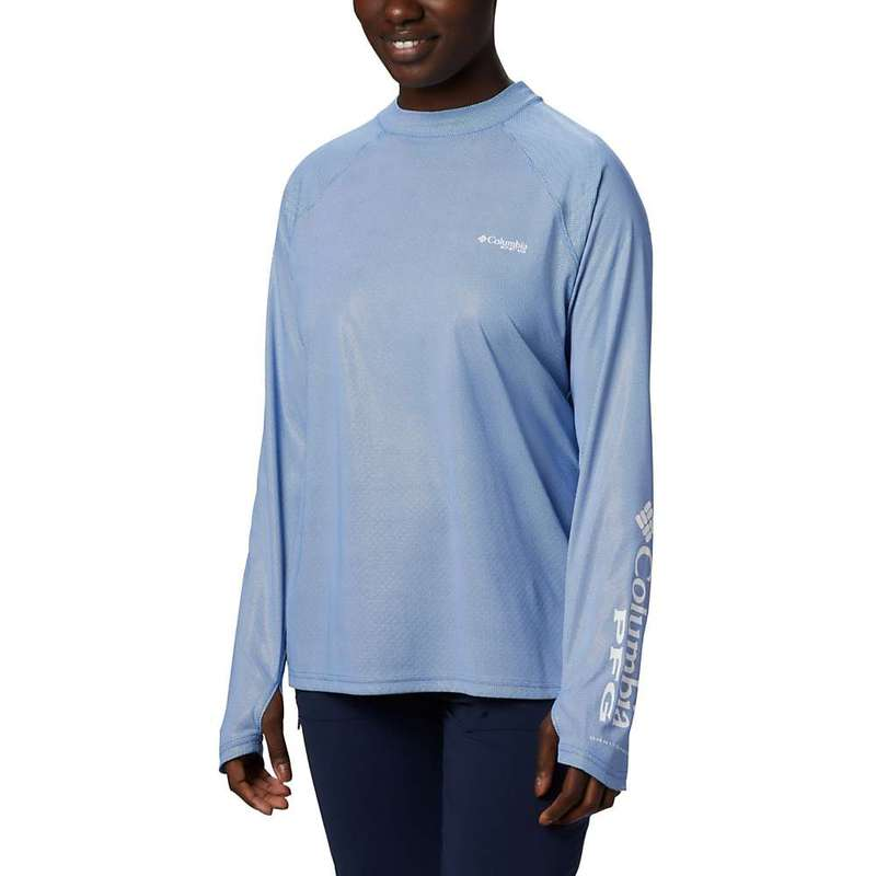 コロンビア レディース シャツ トップス Columbia Women's Tidal Deflector Zero Mock LS Top Dolphin