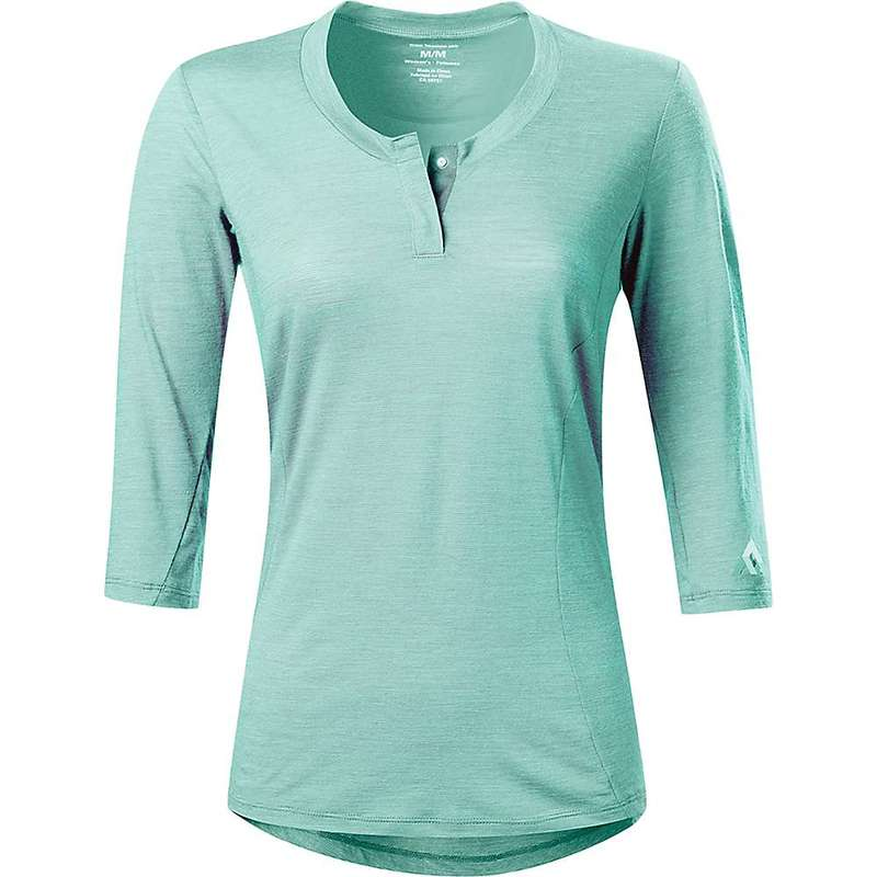 セブンメッシュ レディース シャツ トップス 7mesh Women's Desperado Merino 3/4 Henley Shirt Refresh Mint