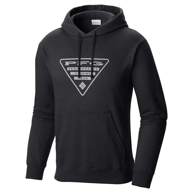 コロンビア メンズ シャツ トップス Columbia Men's PFG Triangle Hoodie Black / Cool Grey