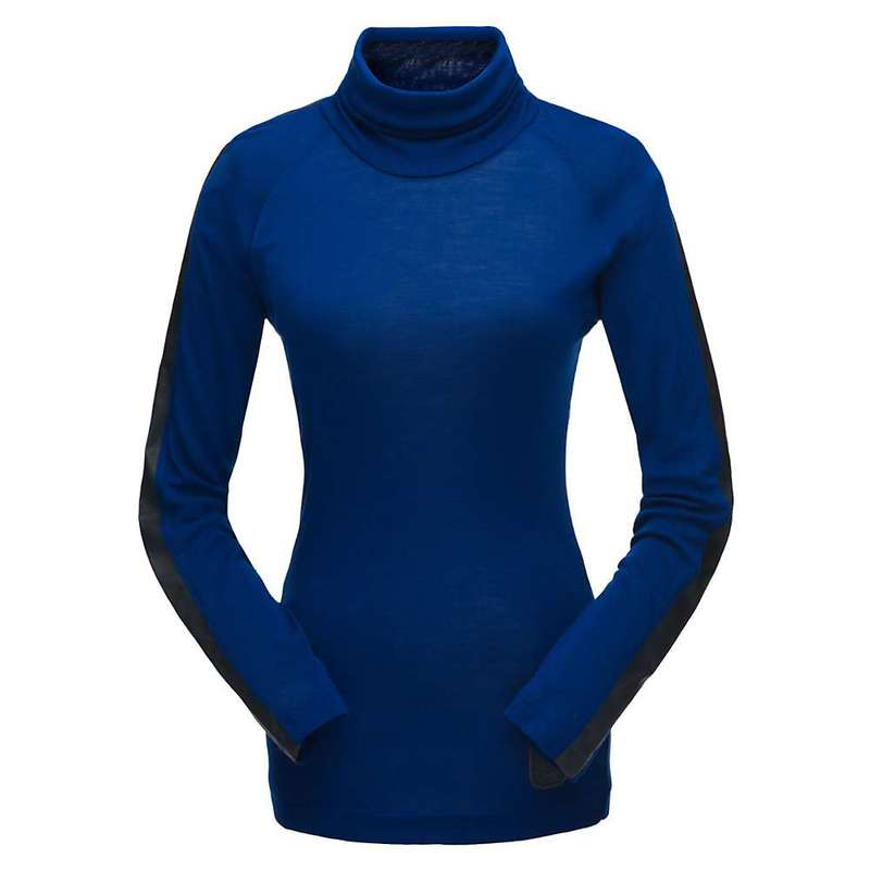 スパイダー レディース シャツ トップス Spyder Women's Allure Turtleneck Top Blue Depths / Black