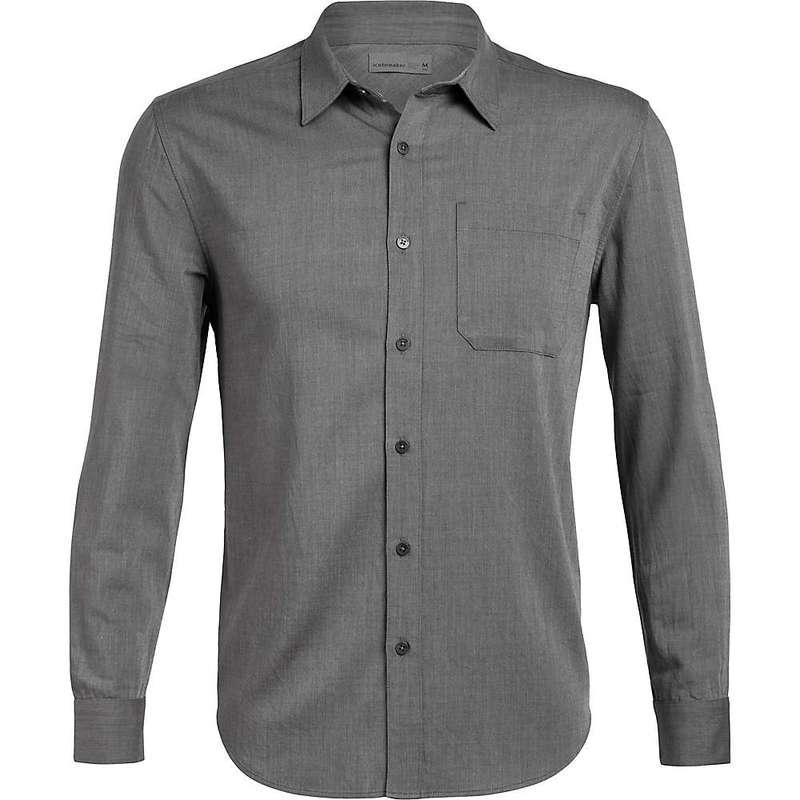 アイスブレーカー メンズ シャツ トップス Icebreaker Men's Compass Flannel LS Shirt Gritstone Heather