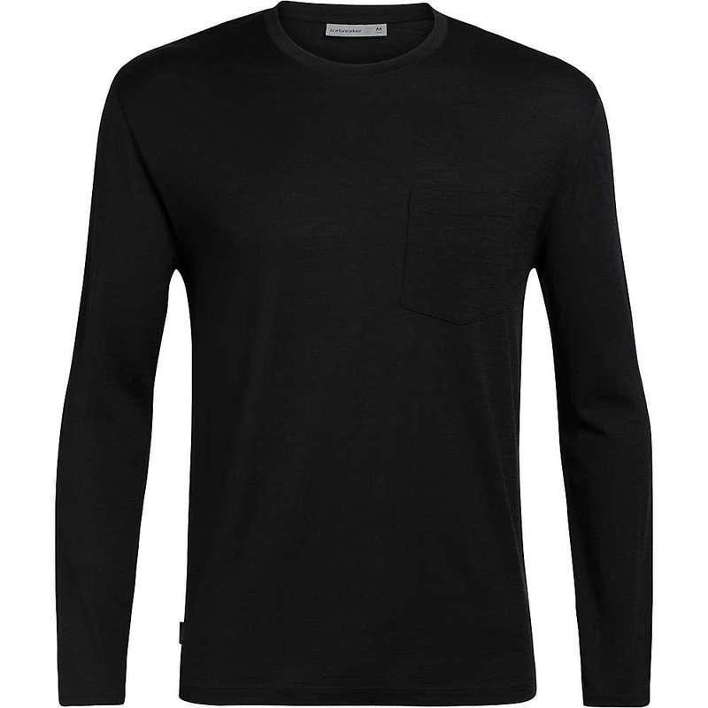 アイスブレーカー メンズ シャツ トップス Icebreaker Men's Ravyn LS Pocket Crewe Black