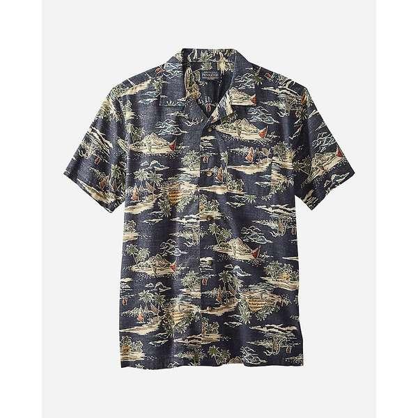 ペンドルトン メンズ シャツ トップス Pendleton Men's Aloha Printed SS Shirt Navy Tropical Village Print