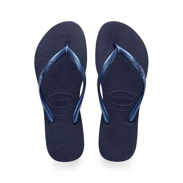 ハワイアナス レディース サンダル シューズ Havaianas Women's Slim Sandal Navy Blue