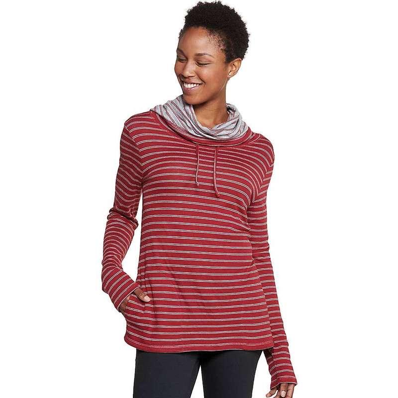 トードアンドコー レディース シャツ トップス Toad & Co Women's Profundo Pullover Sanguine Red Stripe