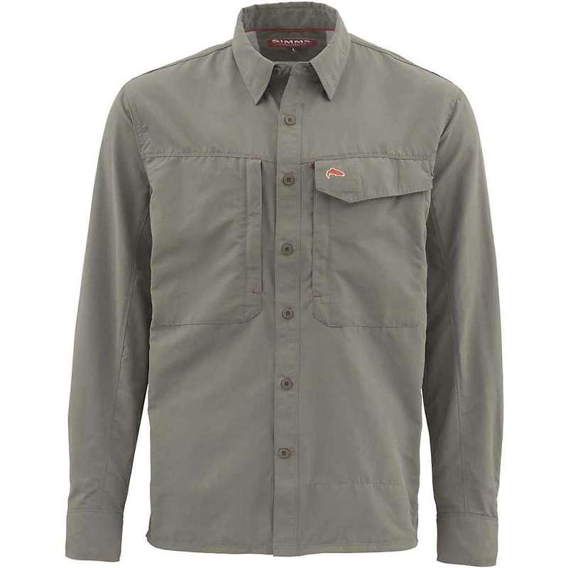 シムズ メンズ シャツ トップス Simms Men's Guide Solid LS Shirt Olive