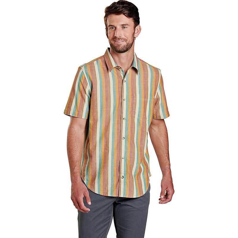 トードアンドコー メンズ シャツ トップス Toad & Co Men's Fletch SS Shirt Hydro Stripe
