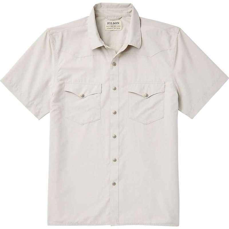 フィルソン メンズ シャツ トップス Filson Men's Snap Front SS Shirt Sand Stone
