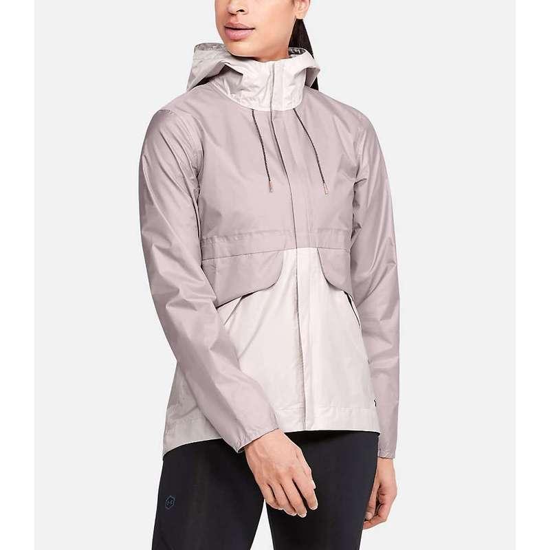 【高い素材】 アンダーアーマー レディース ジャケット・ブルゾン アウター Under Armour Women's Cloudburst Shell Jacket Dash Pink / French Grey / Black, 浪岡町 89fc307e