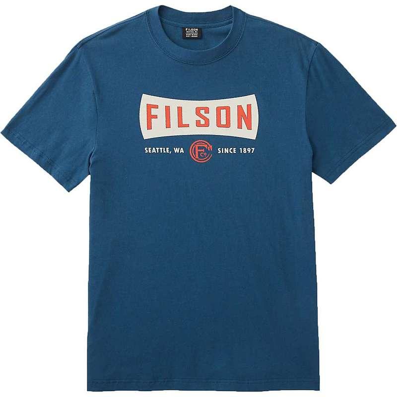 フィルソン メンズ シャツ トップス Filson Men's Lightweight Outfitter Graphic SS T-Shirt Blue Wing Teal