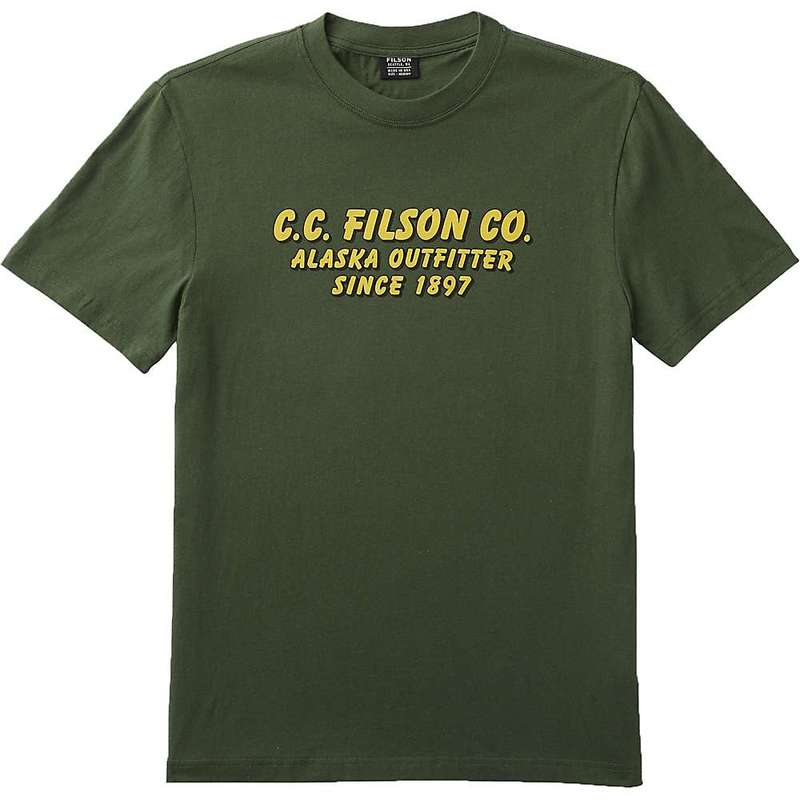 フィルソン メンズ シャツ トップス Filson Men's Lightweight Outfitter Graphic SS T-Shirt Dark Vine