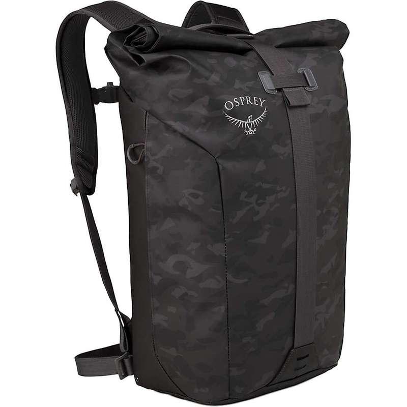 オスプレー メンズ バックパック・リュックサック バッグ Osprey Transporter Roll Top Pack Camo Black