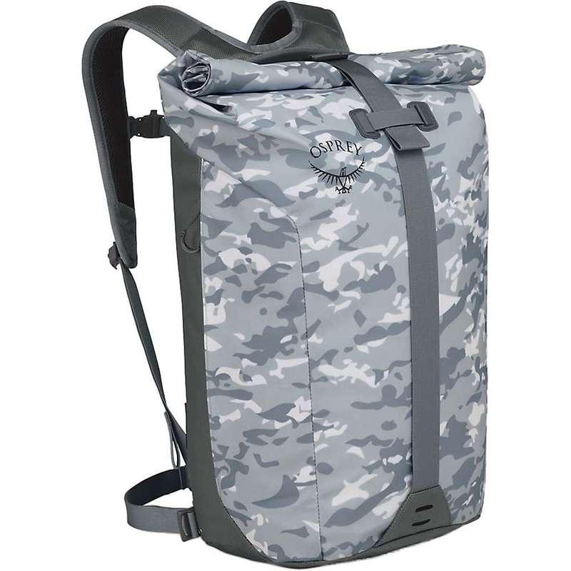 オスプレー メンズ バックパック・リュックサック バッグ Osprey Transporter Roll Top Pack Camo Slate Grey