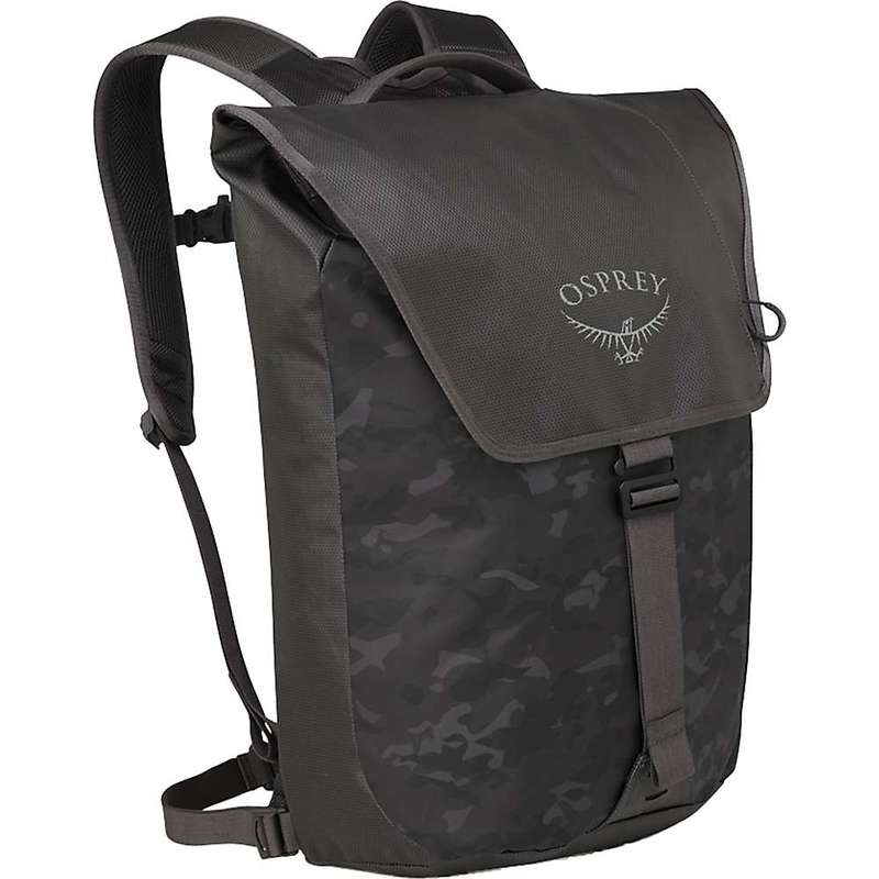 オスプレー メンズ バックパック・リュックサック バッグ Osprey Transporter Flap Pack Camo Black