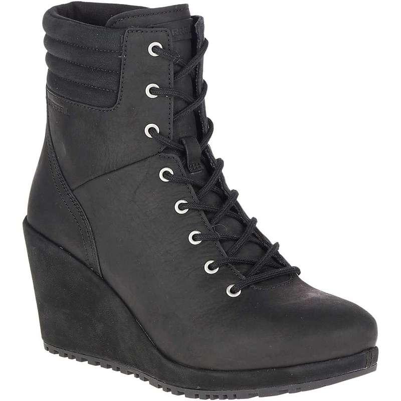 メレル レディース ブーツ・レインブーツ シューズ Merrell Women's Tremblant Wedge Waterproof Boot Black