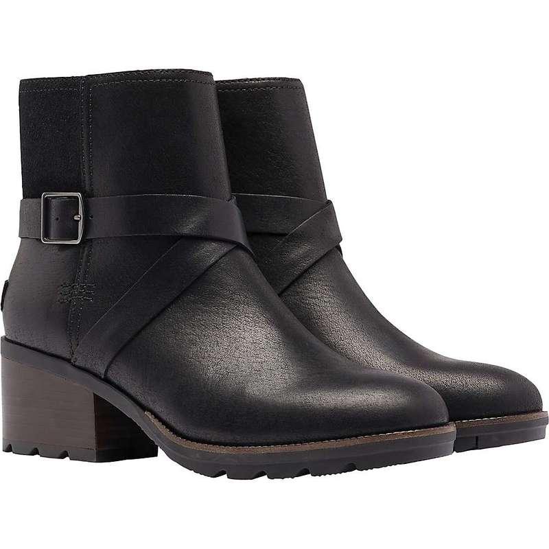 ソレル レディース ブーツ・レインブーツ シューズ Sorel Women's Cate Buckle Boot Black