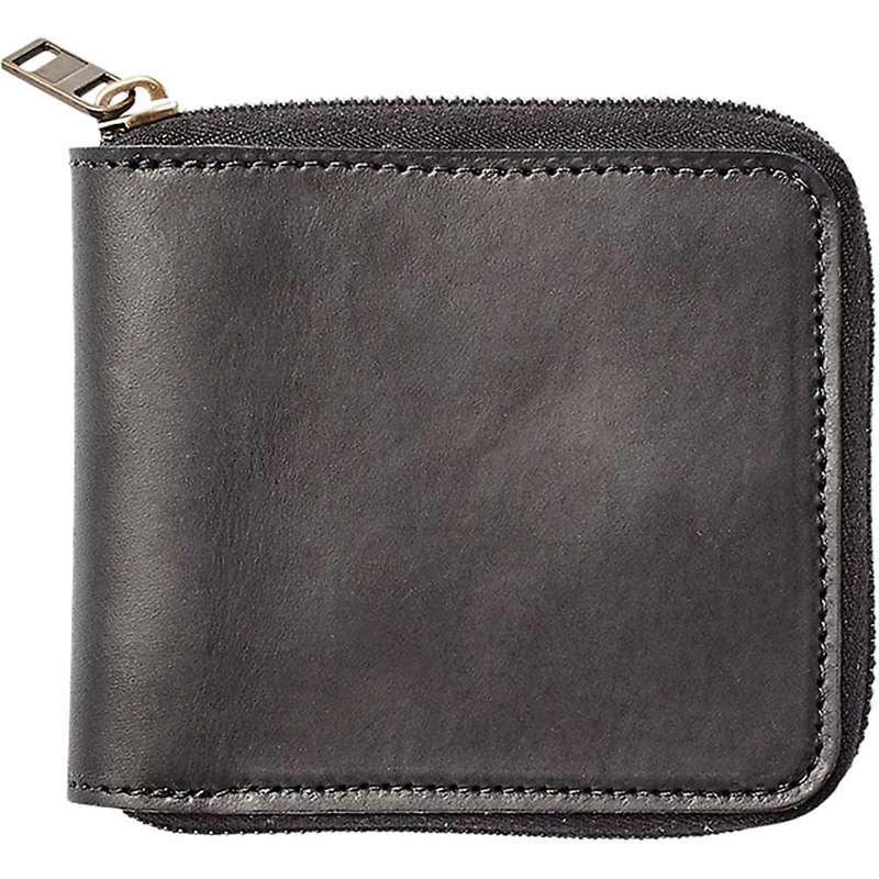 フィルソン メンズ 財布 アクセサリー Filson Dawson Leather Zip Wallet Black