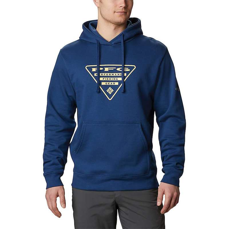 コロンビア メンズ シャツ トップス Columbia Men's PFG Triangle Hoodie Carbon / Sunlit