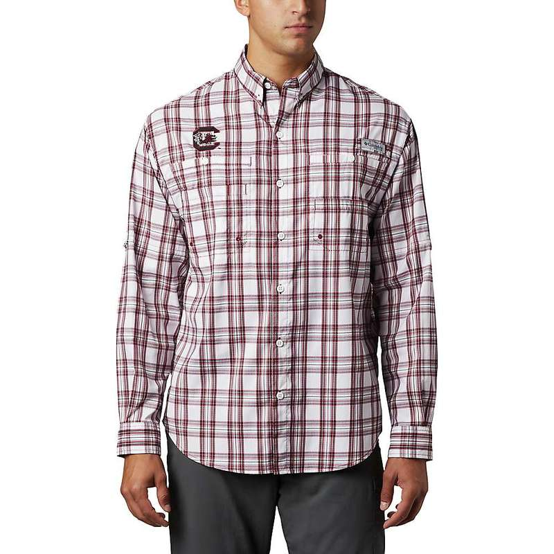 コロンビア メンズ シャツ トップス Columbia Men's Collegiate Super Tamiami LS Shirt Sc-Beet Tartan Plaid
