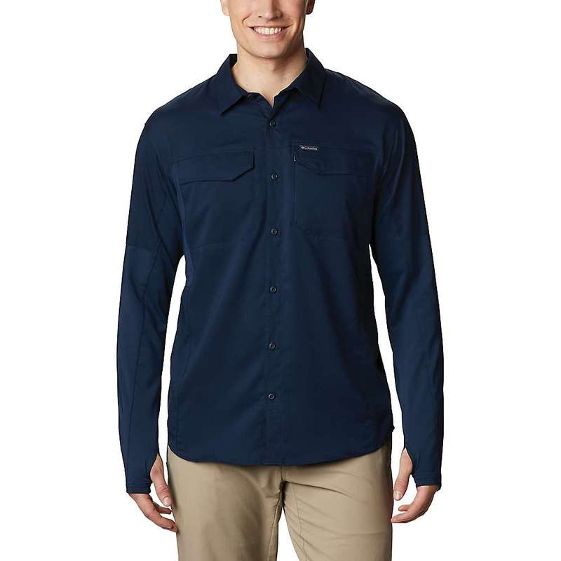 コロンビア メンズ シャツ トップス Columbia Men's Silver Ridge Lite Hybrid Shirt Collegiate Navy