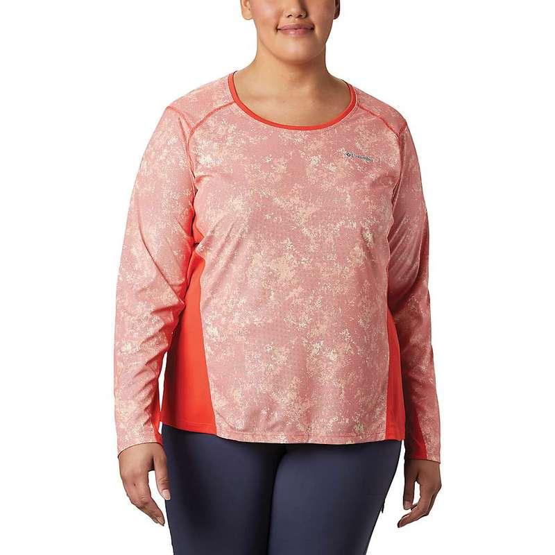 コロンビア レディース シャツ トップス Columbia Women's Solar Chill 2.0 LS Shirt Bright Poppy Print