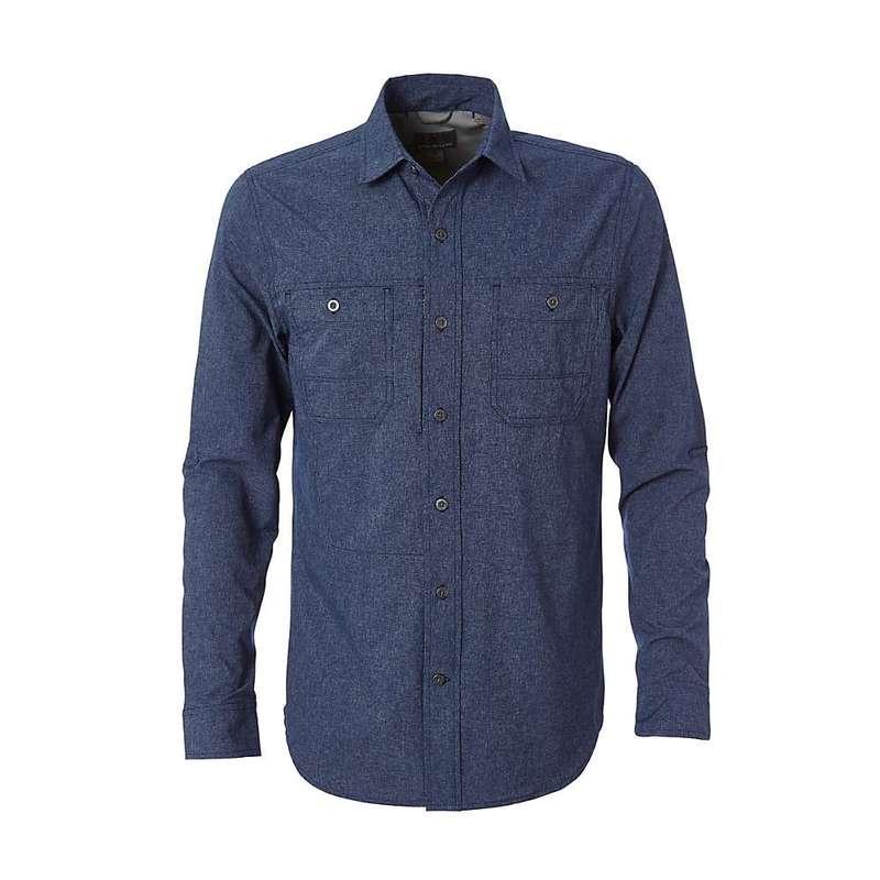 ロイヤルロビンズ メンズ シャツ トップス Royal Robbins Men's Long Distance Traveler LS Shirt Deep Blue