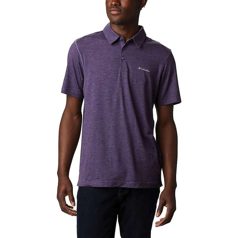 コロンビア メンズ シャツ トップス Columbia Men's Tech Trail Polo Shirt Soft Purple