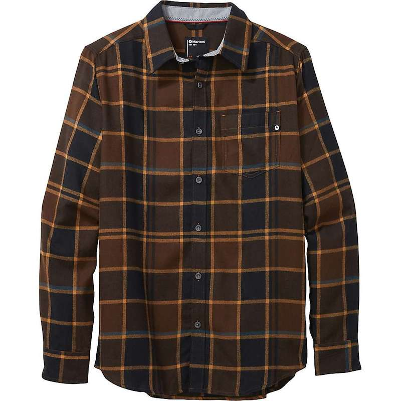 マーモット メンズ シャツ トップス Marmot Men's Fairfax Midweight Flannel LS Shirt Bronze