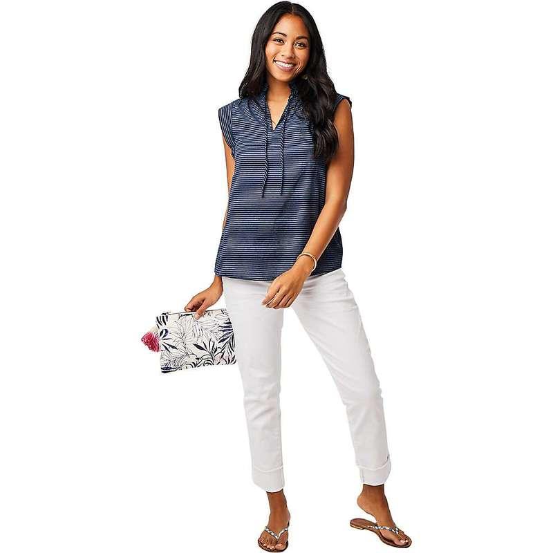 カーブデザイン レディース Tシャツ トップス Carve Designs Women's Larkin Shirt Navy Bayside