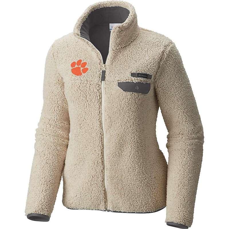 コロンビア レディース ジャケット・ブルゾン アウター Columbia Women's Collegiate Mountain Side Heavyweight Fleece Jacket CLE - Chalk / Charcoal