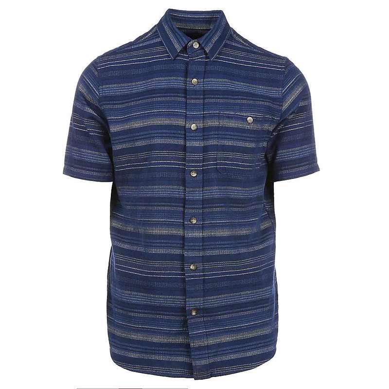 ペンドルトン メンズ シャツ トップス Pendleton Men's Kay Street SS Fitted Stripe Shirt Blue Indigo/Tan Stripe