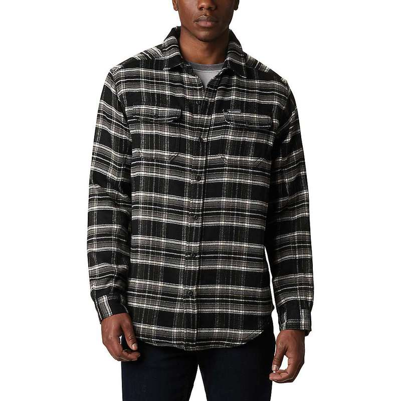 コロンビア メンズ シャツ トップス Columbia Men's Deschutes River Heavyweight Flannel Shirt City Grey Plaid
