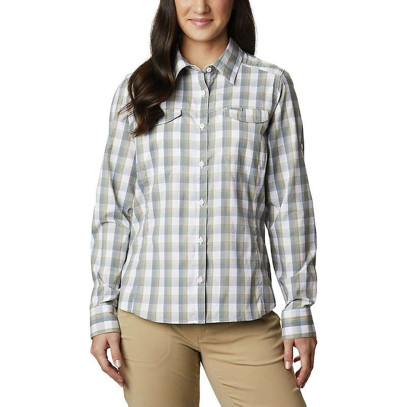コロンビア レディース シャツ トップス Columbia Women's Silver Ridge Lite Plaid LS Shirt White Plaid