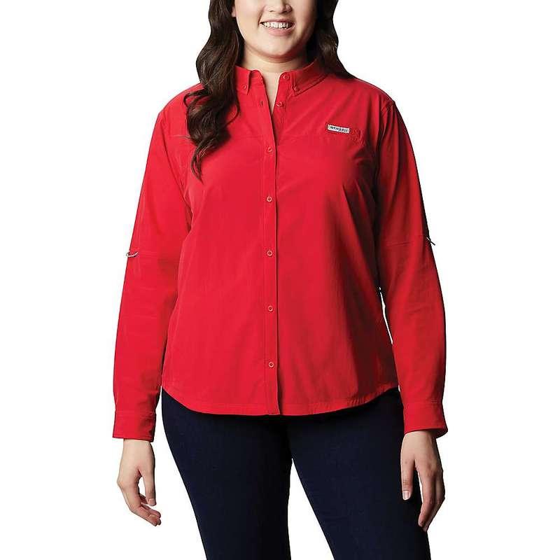 コロンビア レディース シャツ トップス Columbia Women's Coral Point LS Woven Shirt Red Lily