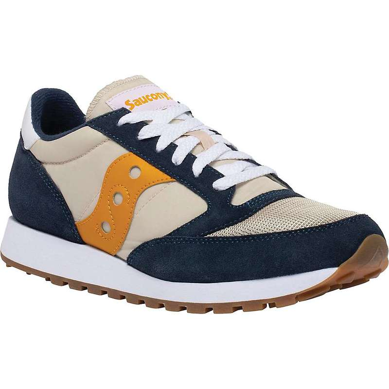 サッカニー メンズ スニーカー シューズ Saucony Men's Jazz Original Vintage Shoe Denim / Tapioca / Curry