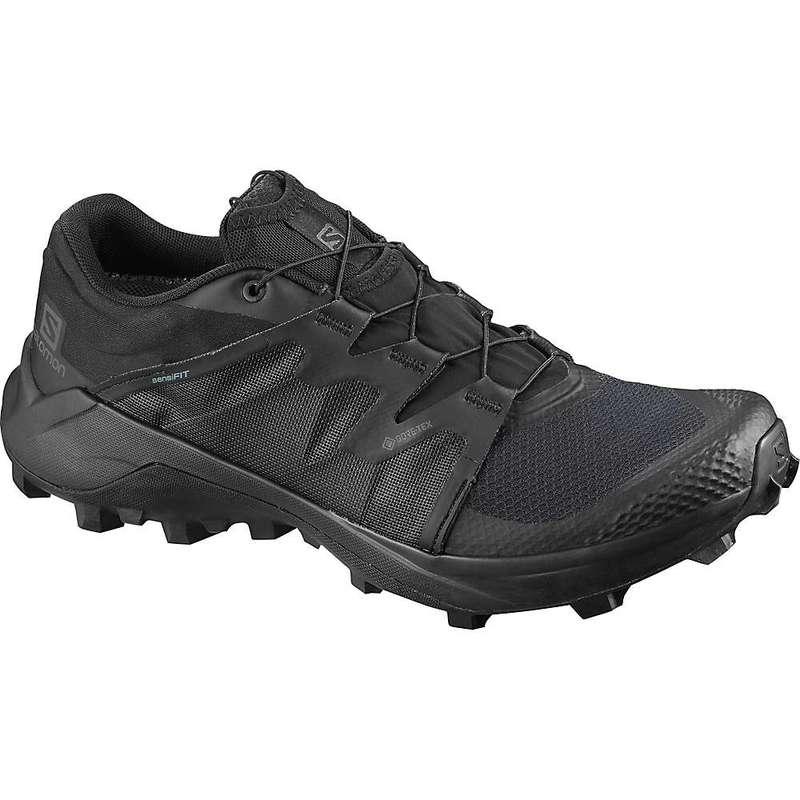 サロモン メンズ スニーカー シューズ Salomon Men's Wildcross GTX Shoe Black / Black / Black