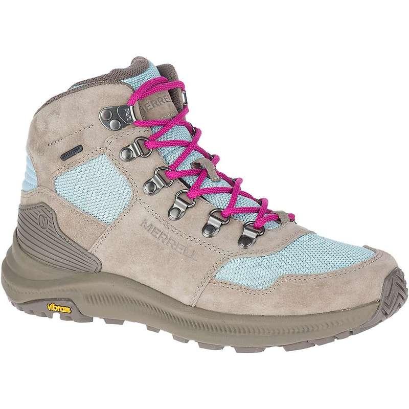 メレル レディース ブーツ・レインブーツ シューズ Merrell Women's Ontario 85 Mesh Mid Waterproof Shoe Brindle / Canal