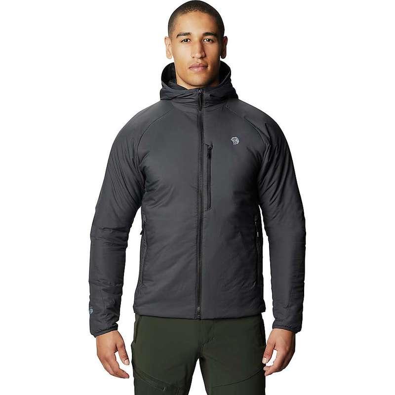 マウンテンハードウェア メンズ ジャケット・ブルゾン アウター Mountain Hardwear Men's Kor Strata Hooded Jacket Dark Storm
