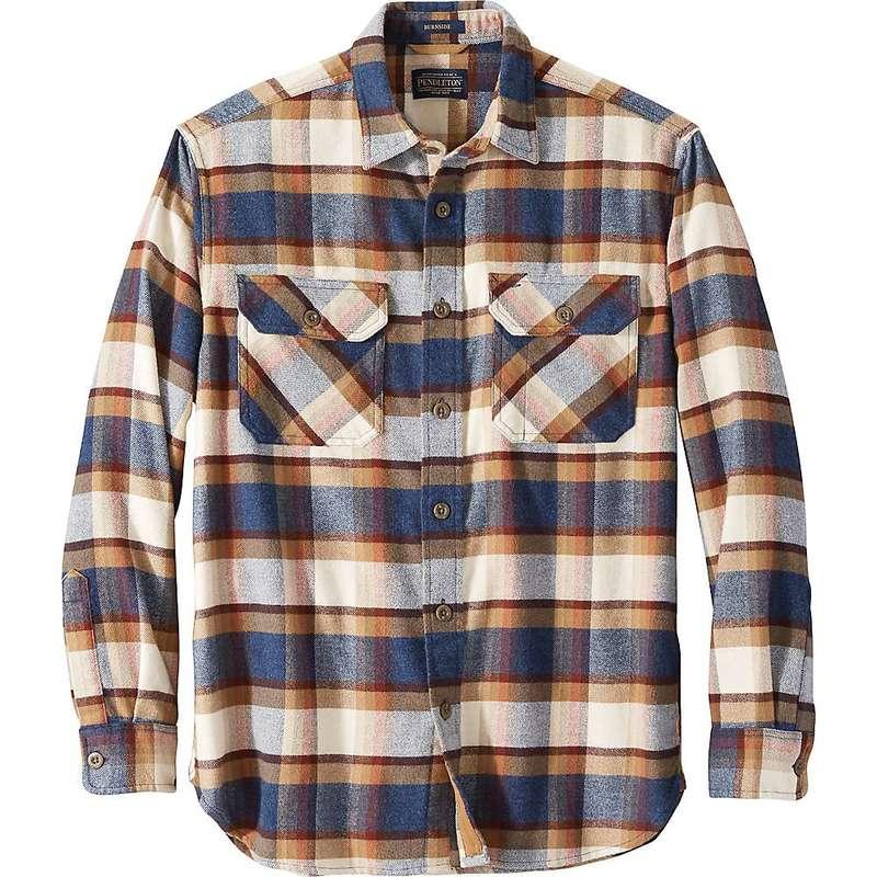 ペンドルトン メンズ シャツ トップス Pendleton Men's Super Soft Burnside Flannel Shirt Blue/Henna/Cream Plaid