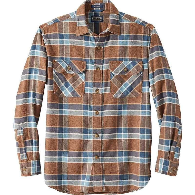 ペンドルトン メンズ シャツ トップス Pendleton Men's Super Soft Burnside Flannel Shirt Brown/Tan/Blue Plaid
