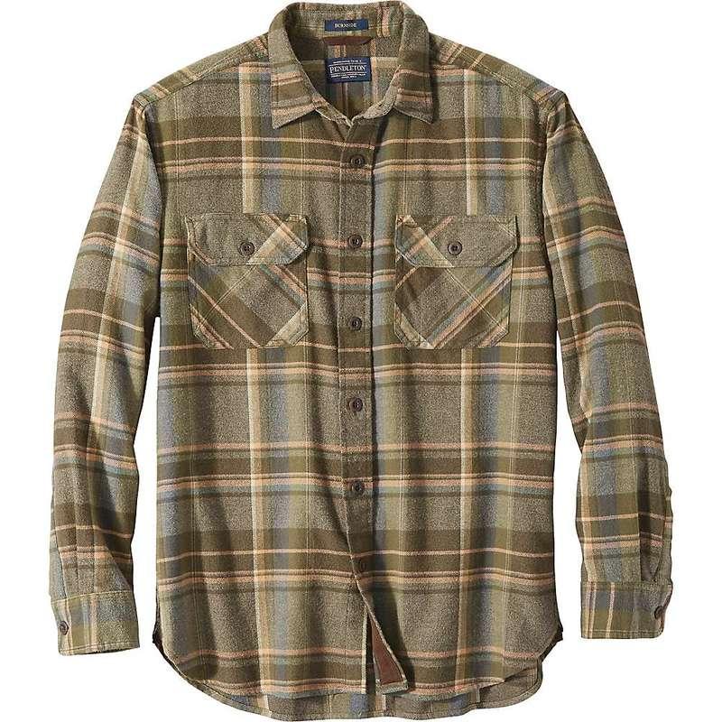 ペンドルトン メンズ シャツ トップス Pendleton Men's Super Soft Burnside Flannel Shirt Green Plaid