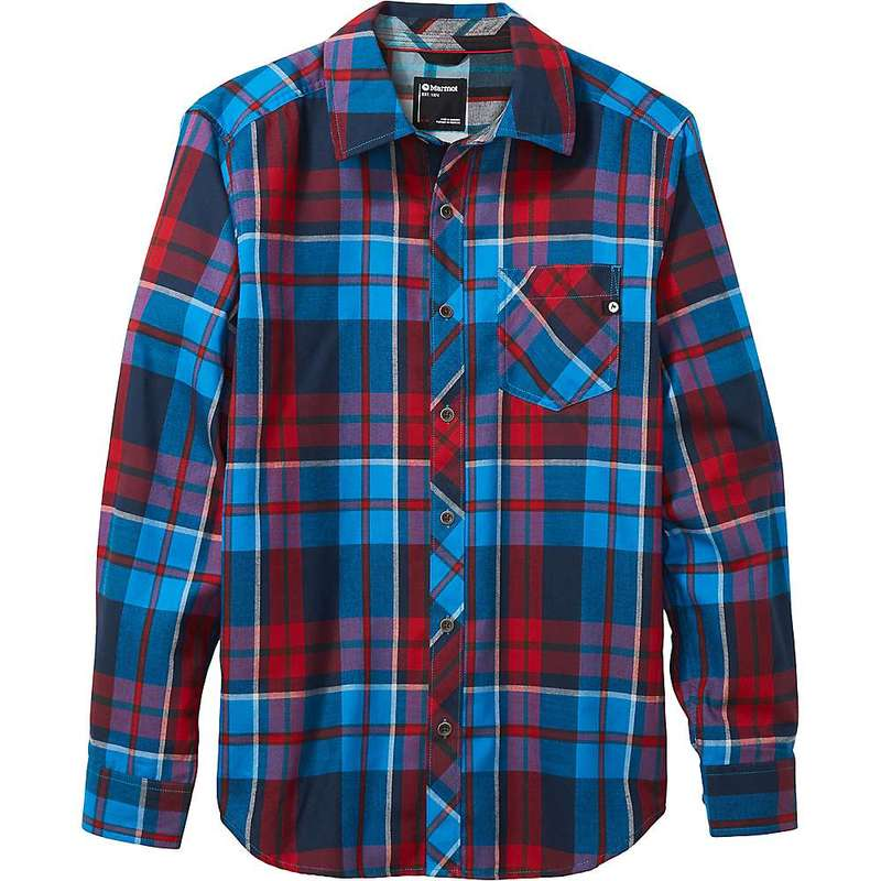 マーモット メンズ シャツ トップス Marmot Men's Anderson Lightweight Flannel Shirt Clear Blue