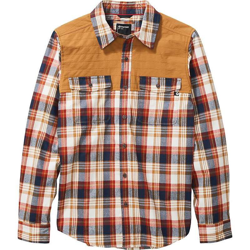 マーモット メンズ シャツ トップス Marmot Men's Needle Peak Midweight Flannel Shirt Scotch